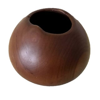 Hand Carved Wood Bowl or Vase