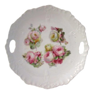 Vintage German Rose Handled Serving Dish