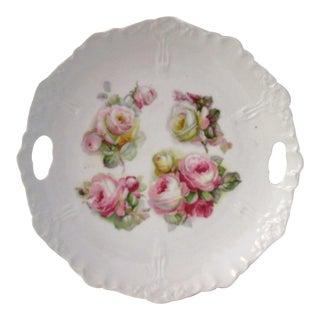 Vintage German Rose Handled Serving Dish
