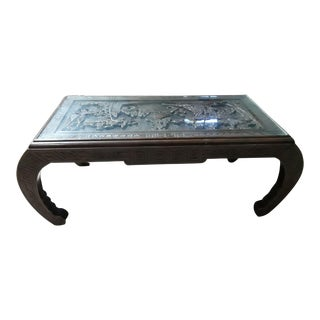Oriental Carved Top Coffee Table