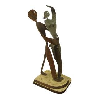 Vintage 1940s Dancing Couple Sculpture