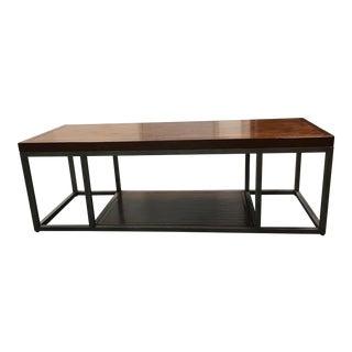 Henredon Wood & Metal Coffee Table