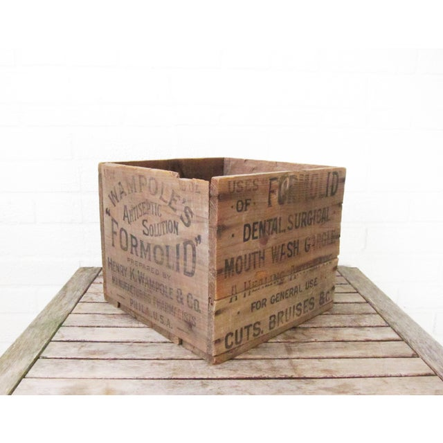 Image of Vintage 1920s Wooden Crate Advertising Box