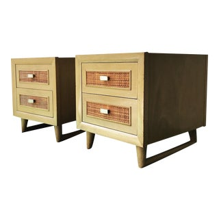 Grand Rapids Mid-Century 2 Drawer Nightstands - A Pair