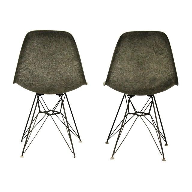 eames gray eiffel base side shell chairs a pair chairish