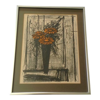 Flower Lithograph by Bernard Buffet