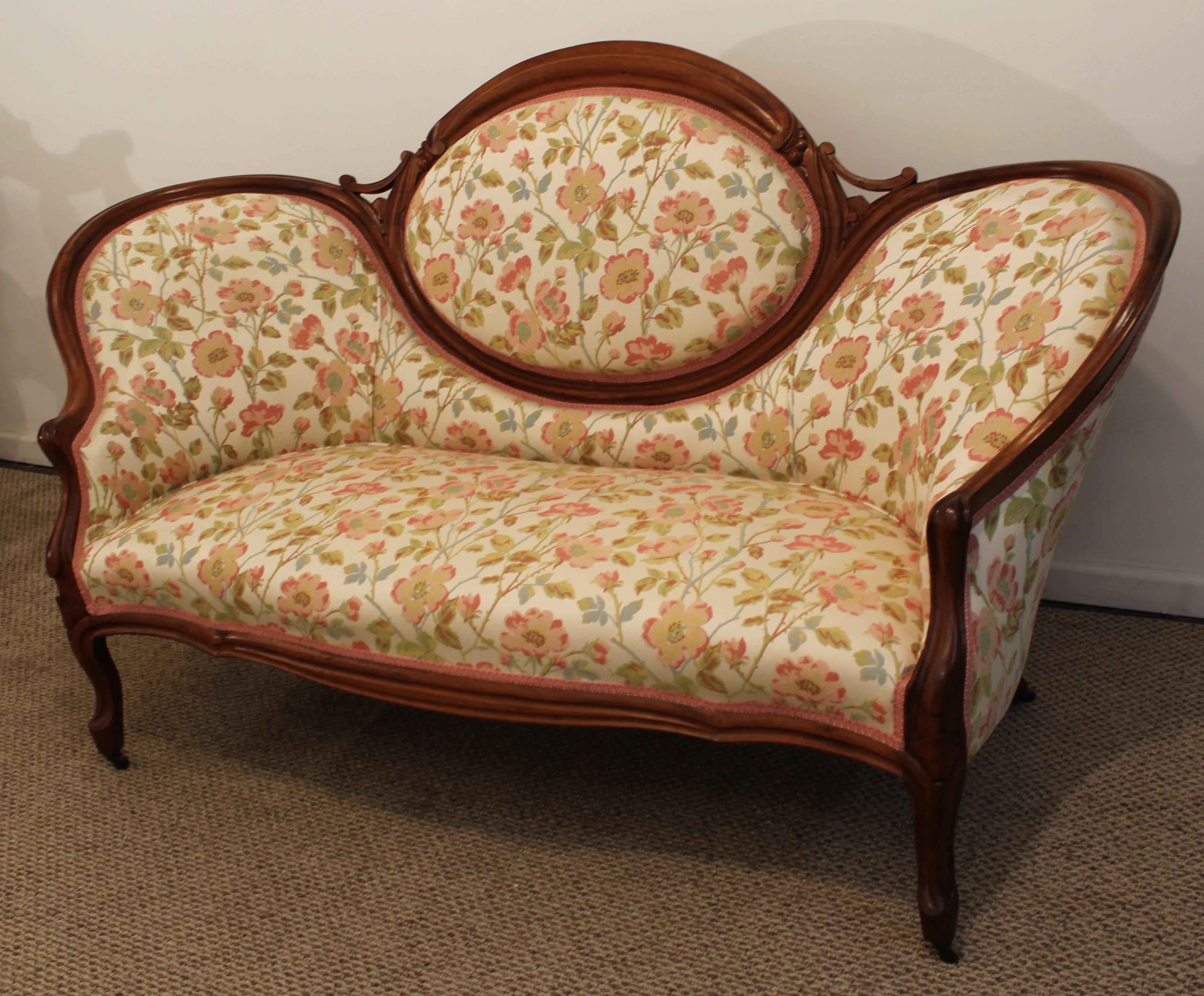 Couch On Wheels Antique Victorian Carved Sofa On Wheels Chairish