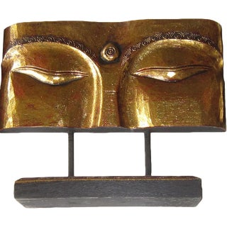 Indonesian Gold Face Panel on Stand