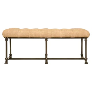 Custom Bench With Steel Frame & Tufted Seat