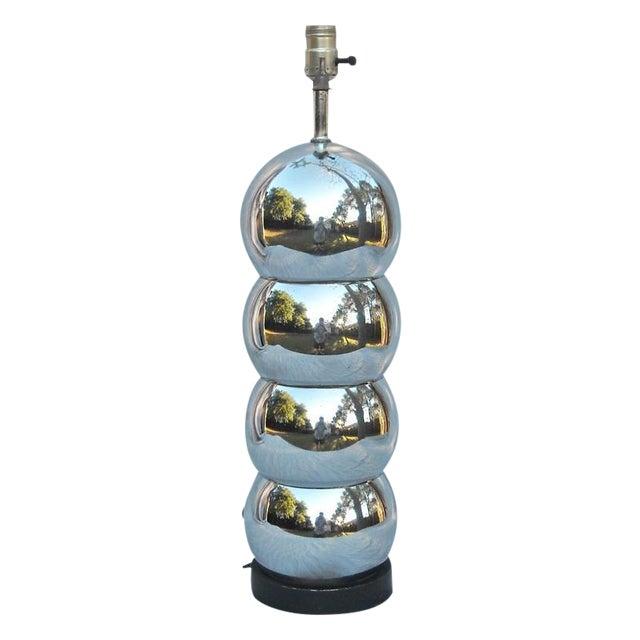 Mid Century Orb Lamp: Mid-Century Mod Chrome Orb Table Lamp
