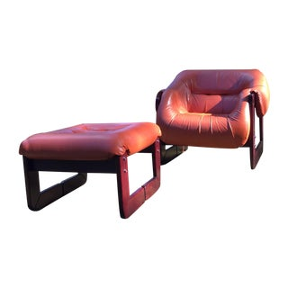 Midcentury Percival Lafer Chair and Ottoman