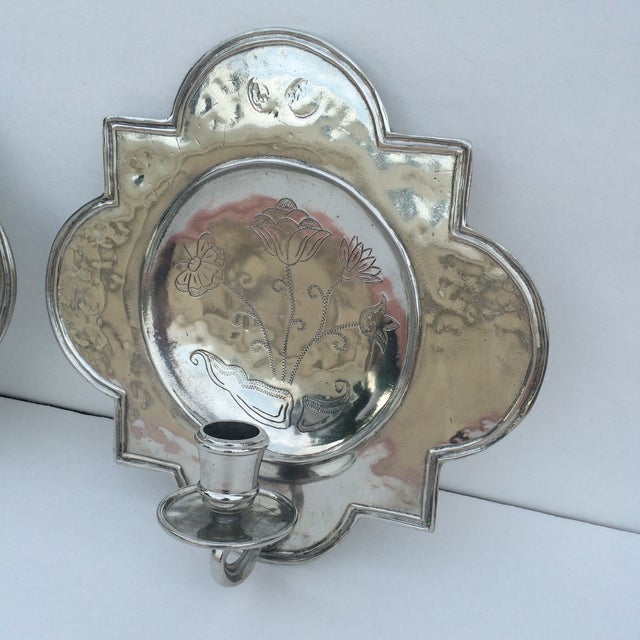 Pierre Deux Pewter Wall Candle Sconces - a Pair Chairish