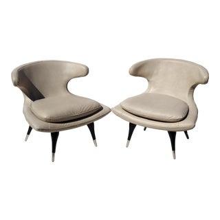Karpen Style Sculptural Horn Chairs - A Pair