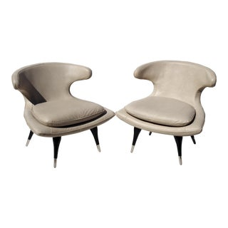 Karpen Style Sculptural Horn Chairs - A Pair