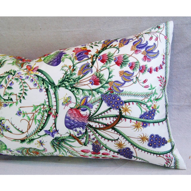 Designer Italian Gucci Floral Fanni Silk Pillow - Image 5 of 11