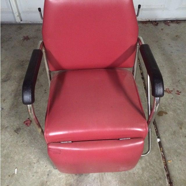 Vintage Reclining Salon Shampoo Chair - Image 4 of 7
