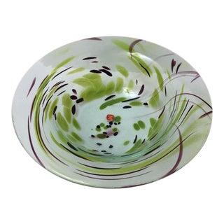 Italian Glass Murano Low Bowl