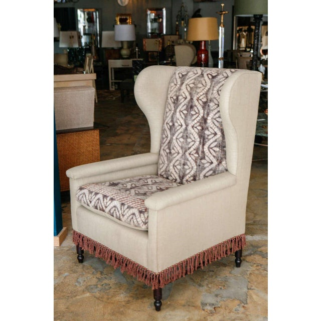 Image of Bohemian Wingback Pair Chairs Early 20th Century