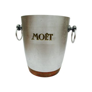 Moet Champagne Silver and Copper Ice Bucket