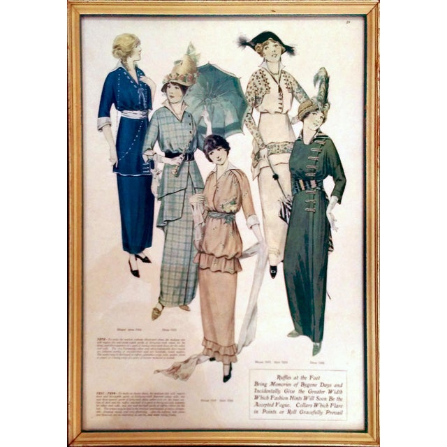 Framed Antique Fashion Advertisements- A Pair - Image 3 of 8