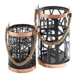 Image of Rose Gold & Black Filigree Hurricanes - A Pair