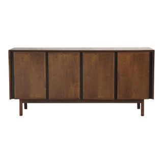 American Walnut Four Door Credenza