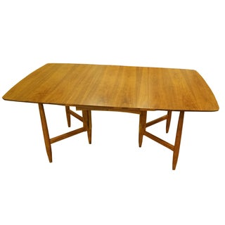 Mid Century Walnut Gate Leg Dining Table