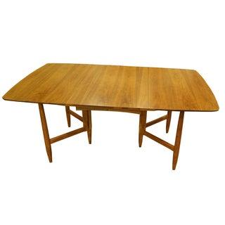 Mid Century Walnut Gate Leg Dining Table