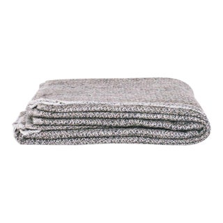 Kashmir Hand Loomed Throw in Grey