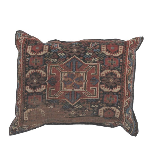 Leon Banilivi Pillow, Antique Persian Rug Fragment - Image 1 of 4