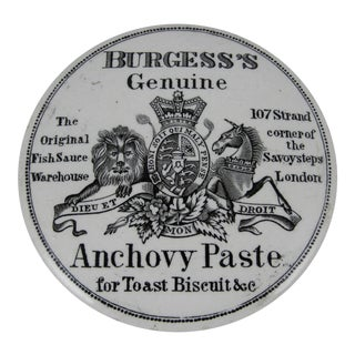 English Staffordshire Transfer Printed Anchovy Paste Pot