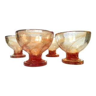 Art Glass Compote Dishes- Set of 4