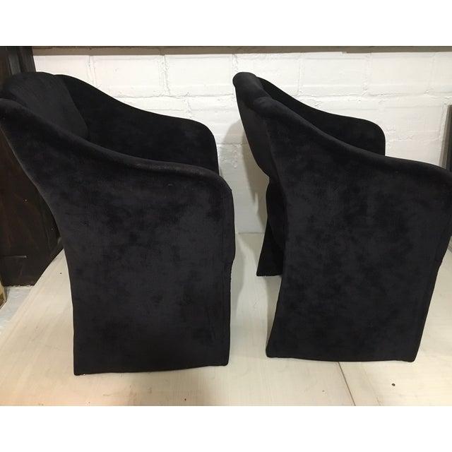 Image of Vintage Black Arm Chairs - Pair
