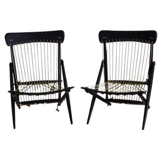Vintage Maruni Studio Rope Chairs - A Pair