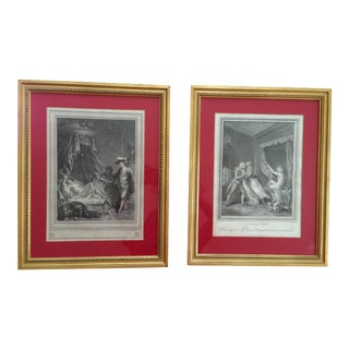 Antique 18th Century French Etchings - A Pair