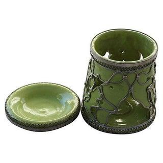 Pistachio Moroccan Ceramic Candleholder