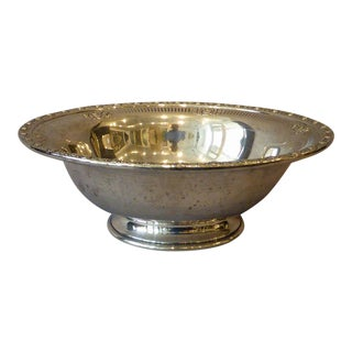 "Sterling Silver Footed Bowl ""Royal Rose"""