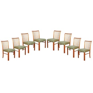 Mid Century Green Dining Chairs by Jacob Kjaer, set of 8
