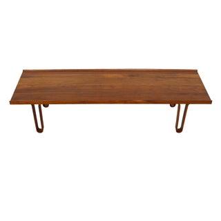 "Edward Wormley for Dunbar ""Long John"" Walnut Bench/Coffee Table"