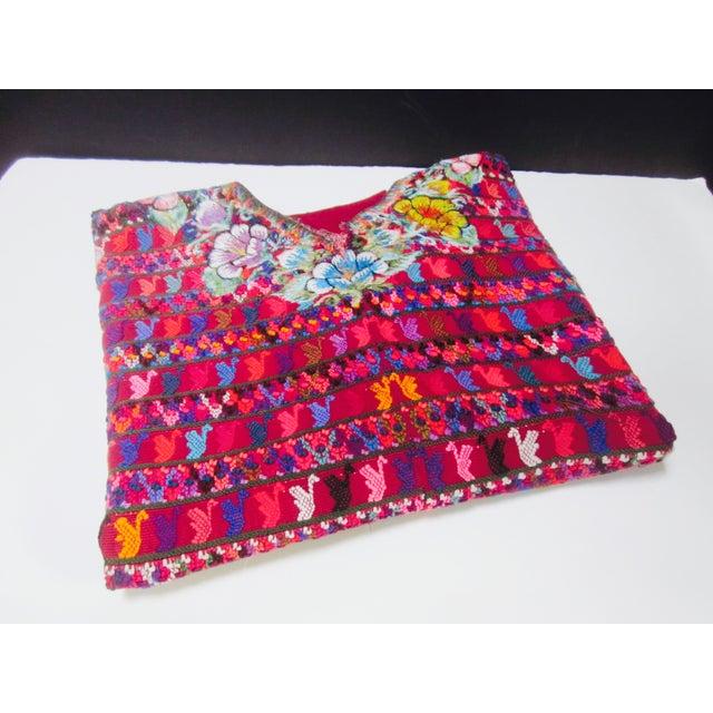 Guatemalan Fabric Boho Beach Textile - Image 3 of 10
