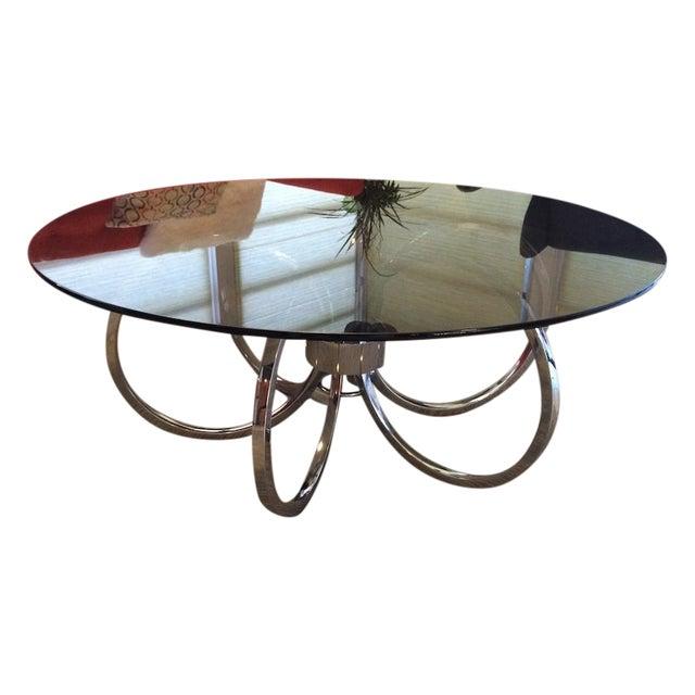 Milo Baughman Chrome Round Coffee Table Chairish