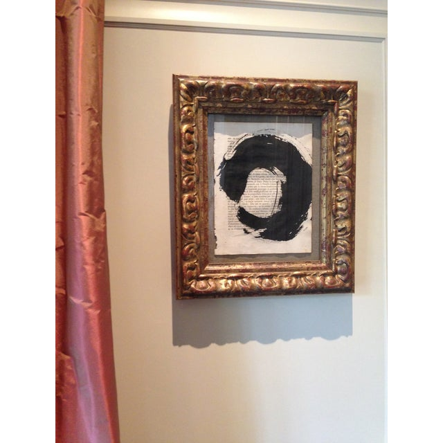 """John Mayberry Painting in Custom Frame - """"Circle"""" - Image 2 of 5"""