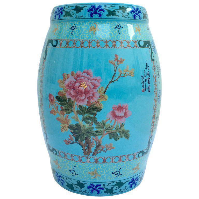 Vintage Chinese Hand Painted Ceramic Garden Stool  sc 1 st  Chairish & Vintage u0026 Used Garden Stools | Chairish islam-shia.org