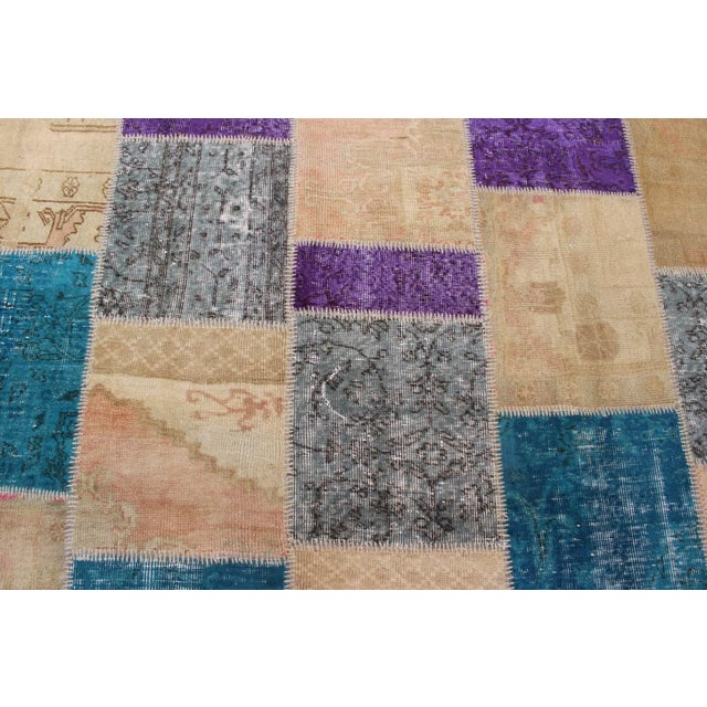 Turkish Patchwork Multicolored Rug - 8′ × 9′10″ - Image 4 of 7