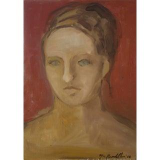 """Elizabeth"" Painting in the Style of Pompeiian Fresco"