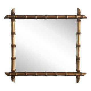 Hollywood Regency Gilded Bamboo Mirror