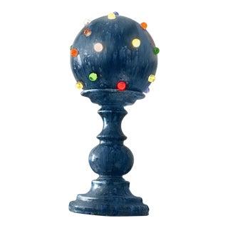 Mid-Century Art Glass & Ceramic Globe Lamp