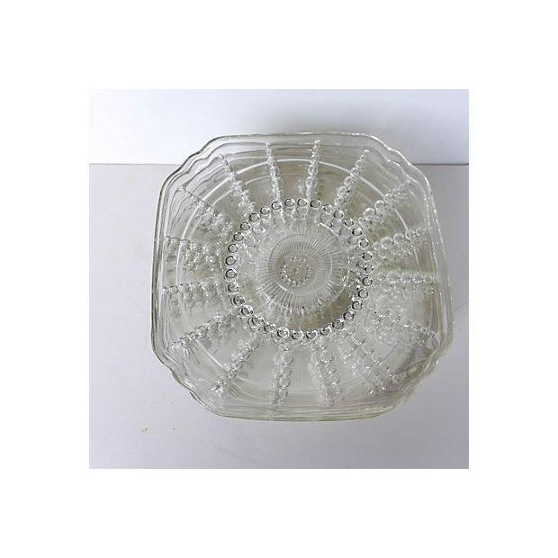 Vintage Pressed Glass Dessert Plates - Set of 7 - Image 5 of 5