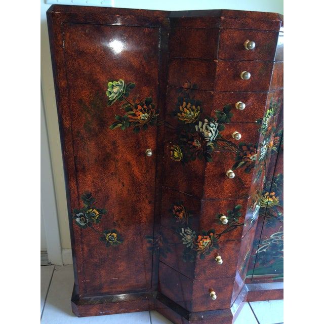 Red Asian Cabinet - Image 4 of 9