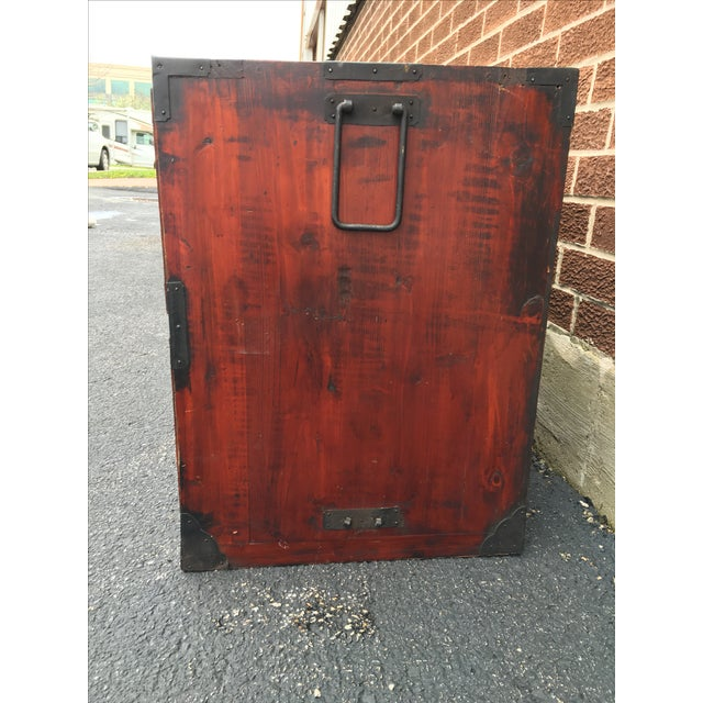 Two Drawer Primitive Chest with Metal Hardware - Image 4 of 10